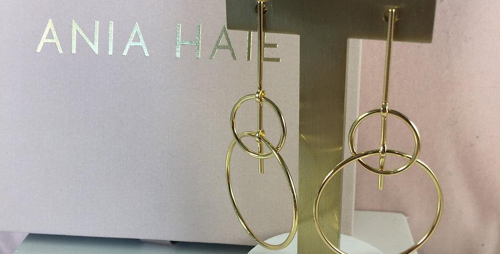 Solid Drop Earrings Gold