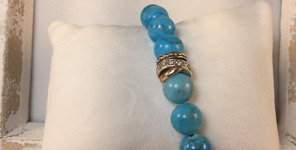 Neptune's Rings Turquoise Stretch Bracelet