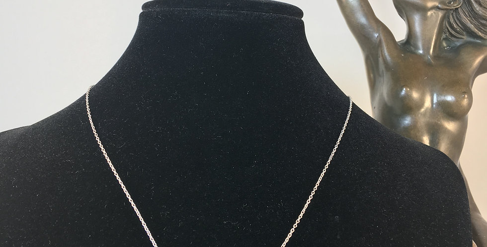 Angel Wing Diamond Silver Necklace