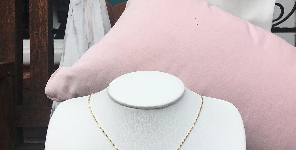 Shimmer Triple Stud Necklace