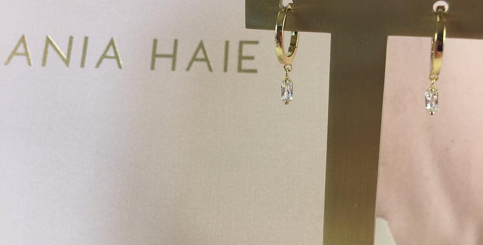 Glow Huggie Hoop Earrings Gold