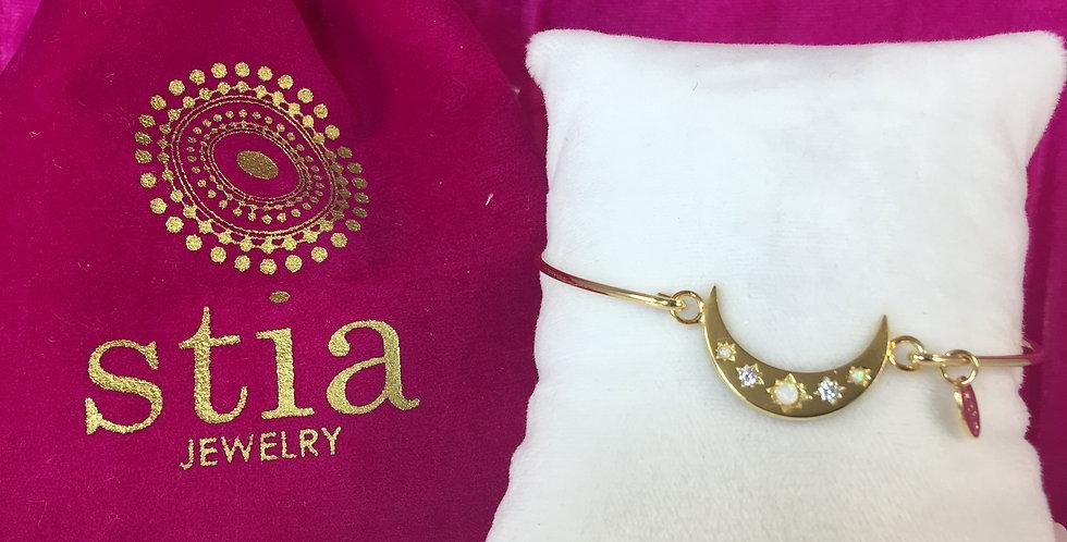 Crescent Moon Gold Bracelet