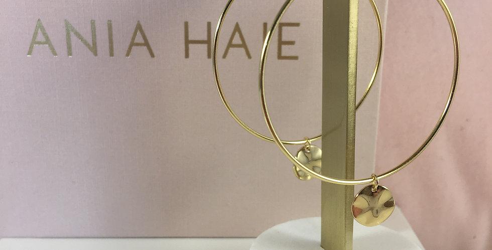 Ripple Hoop Earrings Gold