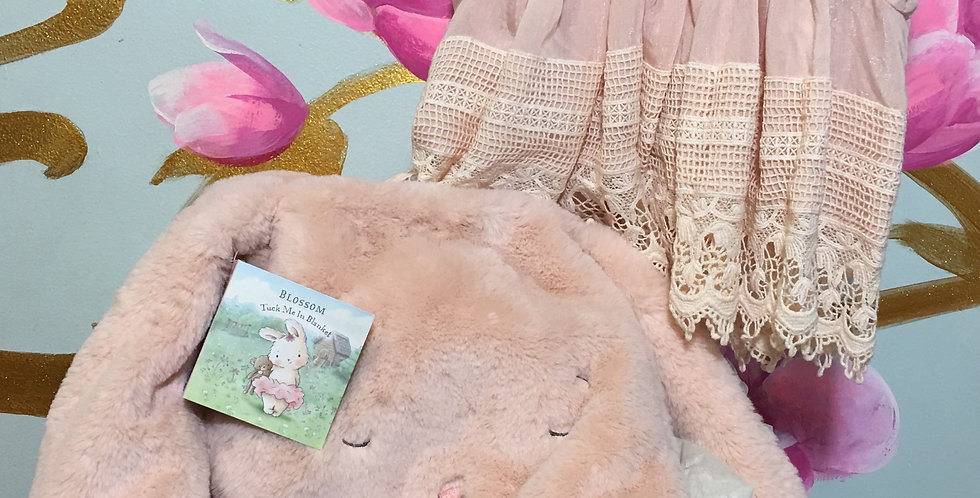 Pink Bunny Gift Basket