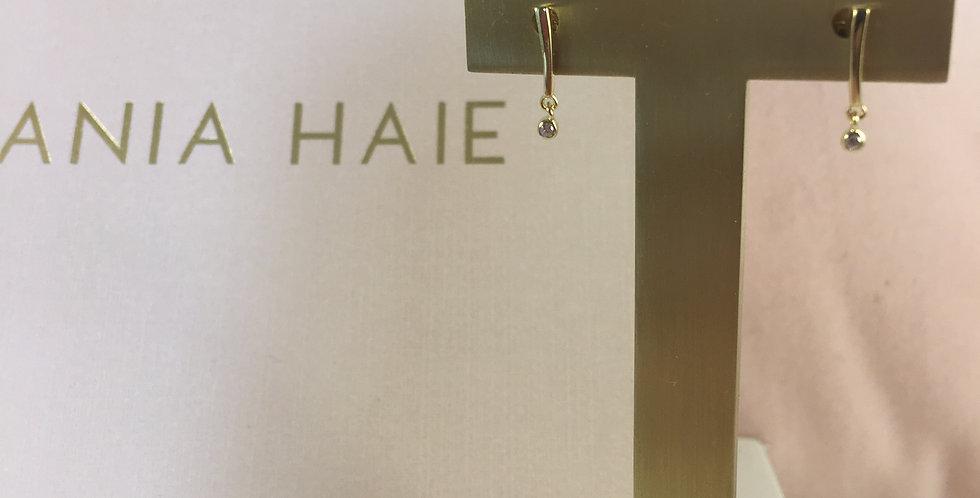Shimmer Bar Stud Earrings Gold