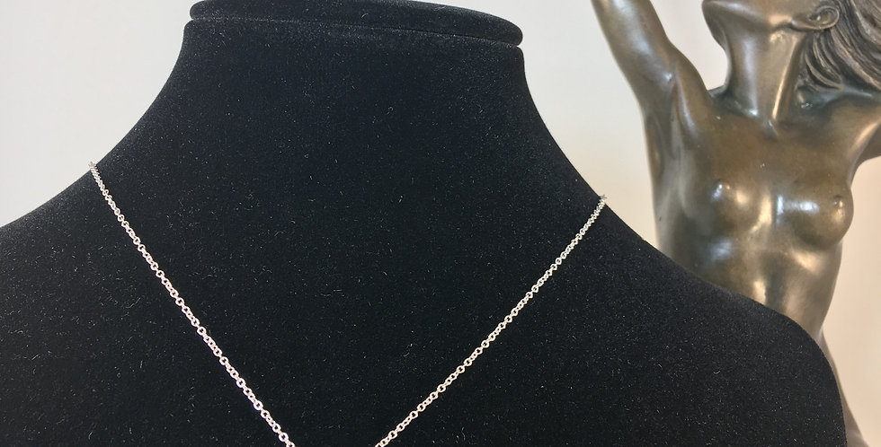 Double Diamond Stacked Silver Necklace