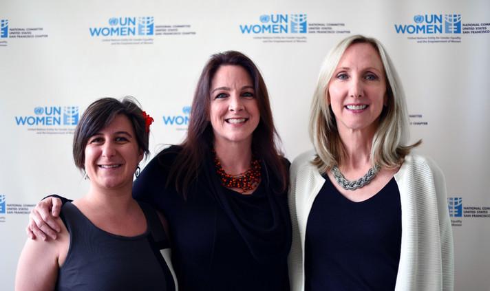 Global Voices Film Festival 2016. Left to right: Marina Romani, Amy Logan, Carolyn Wright © Vivian Vivas