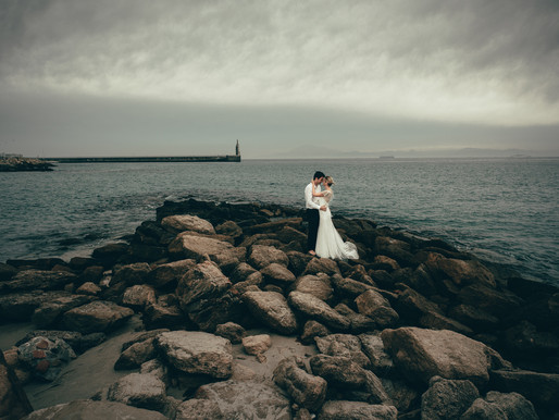 Afterwedding session in Tarifa, Costa de la Luz, Spain