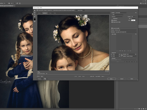 Mommy and me fine-art painterly portrait | My editing workflow video tutorial