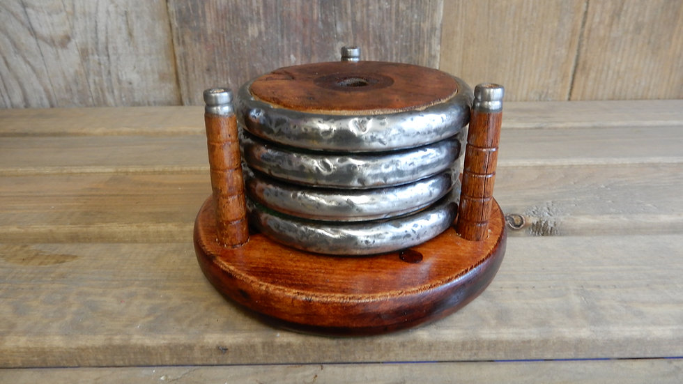 Bobbin Coaster Set With Stand