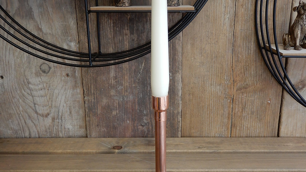 Single Copper Candle Holder