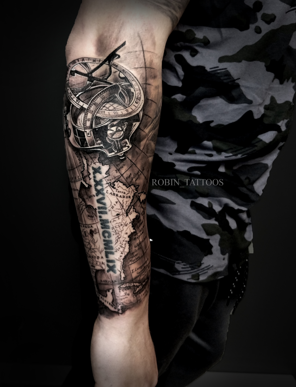 Jarrett map tattoo