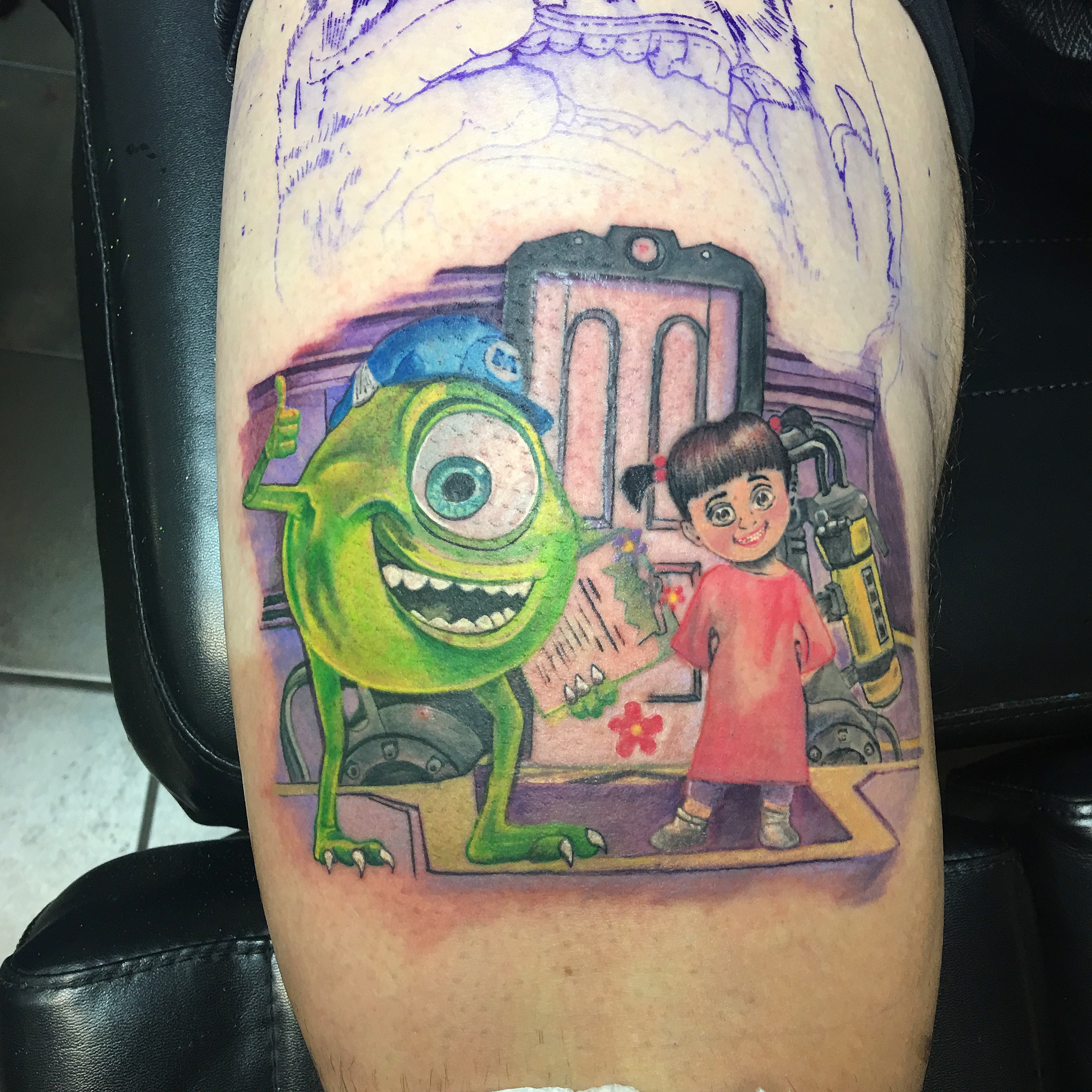 Monsters Inc tattoo by Robin patel