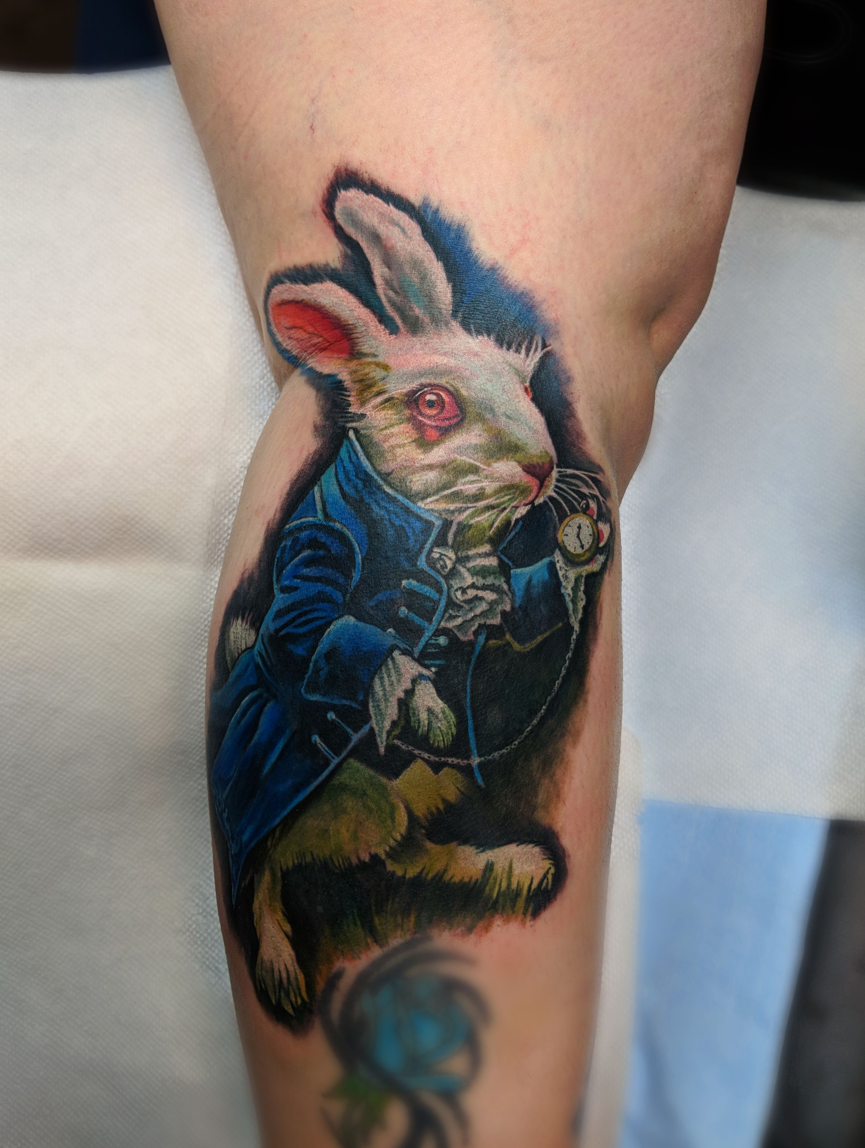 Realism White Rabbit Tattoo