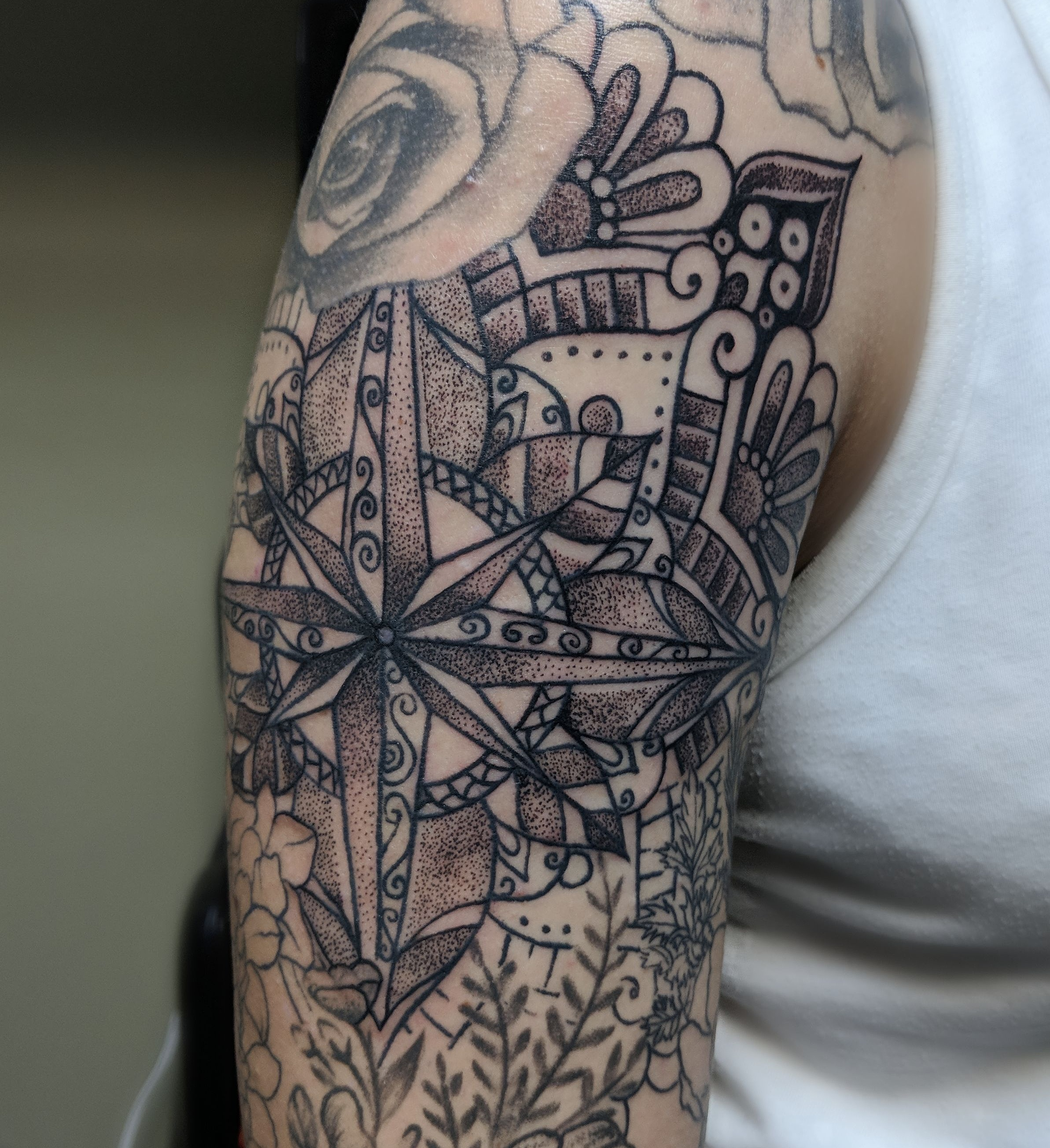 Mandala compass Tattoo