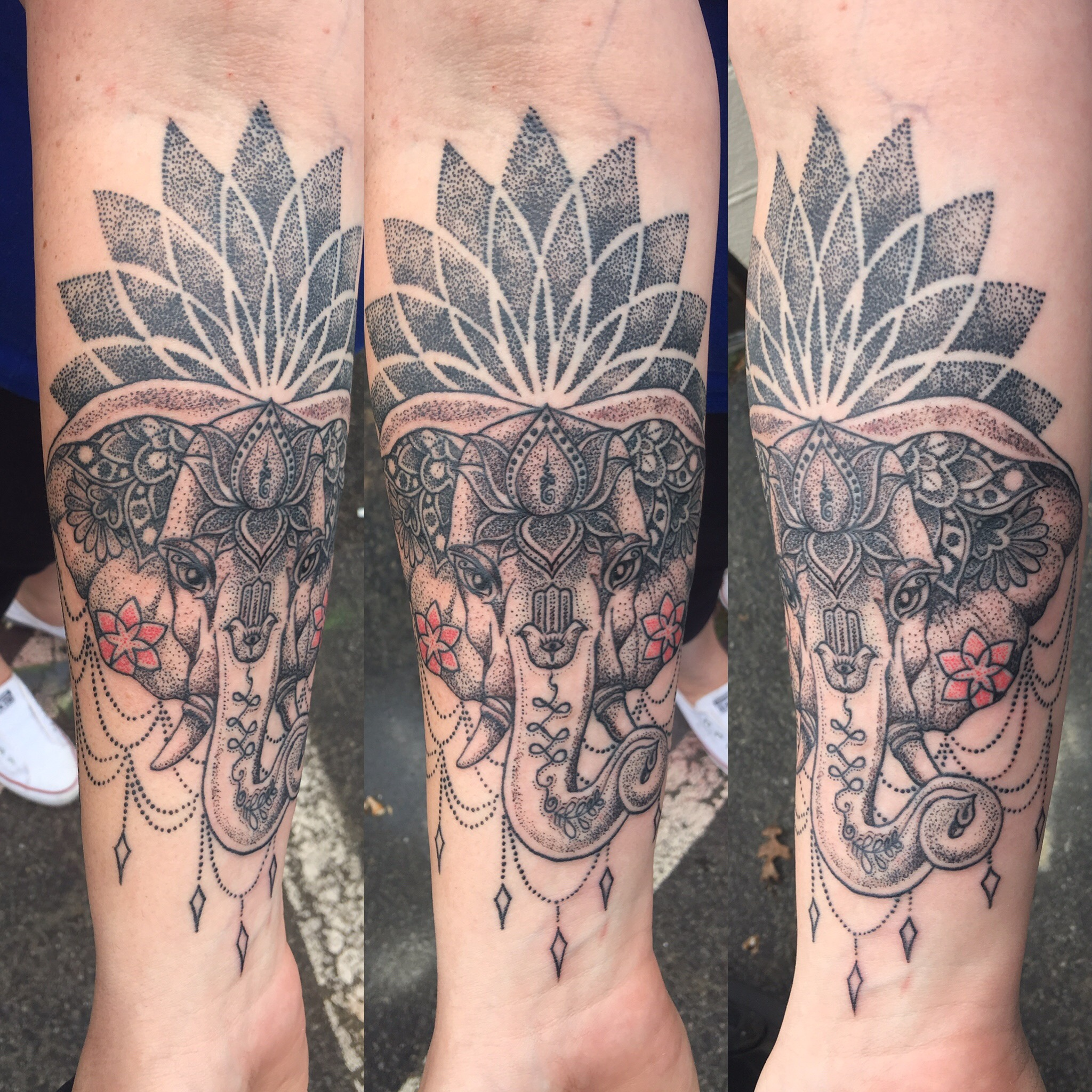 Elephant mandala Tattoo