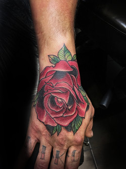 Neo Trad Rose Tattoo