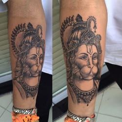 Lord Hanuman tattoo