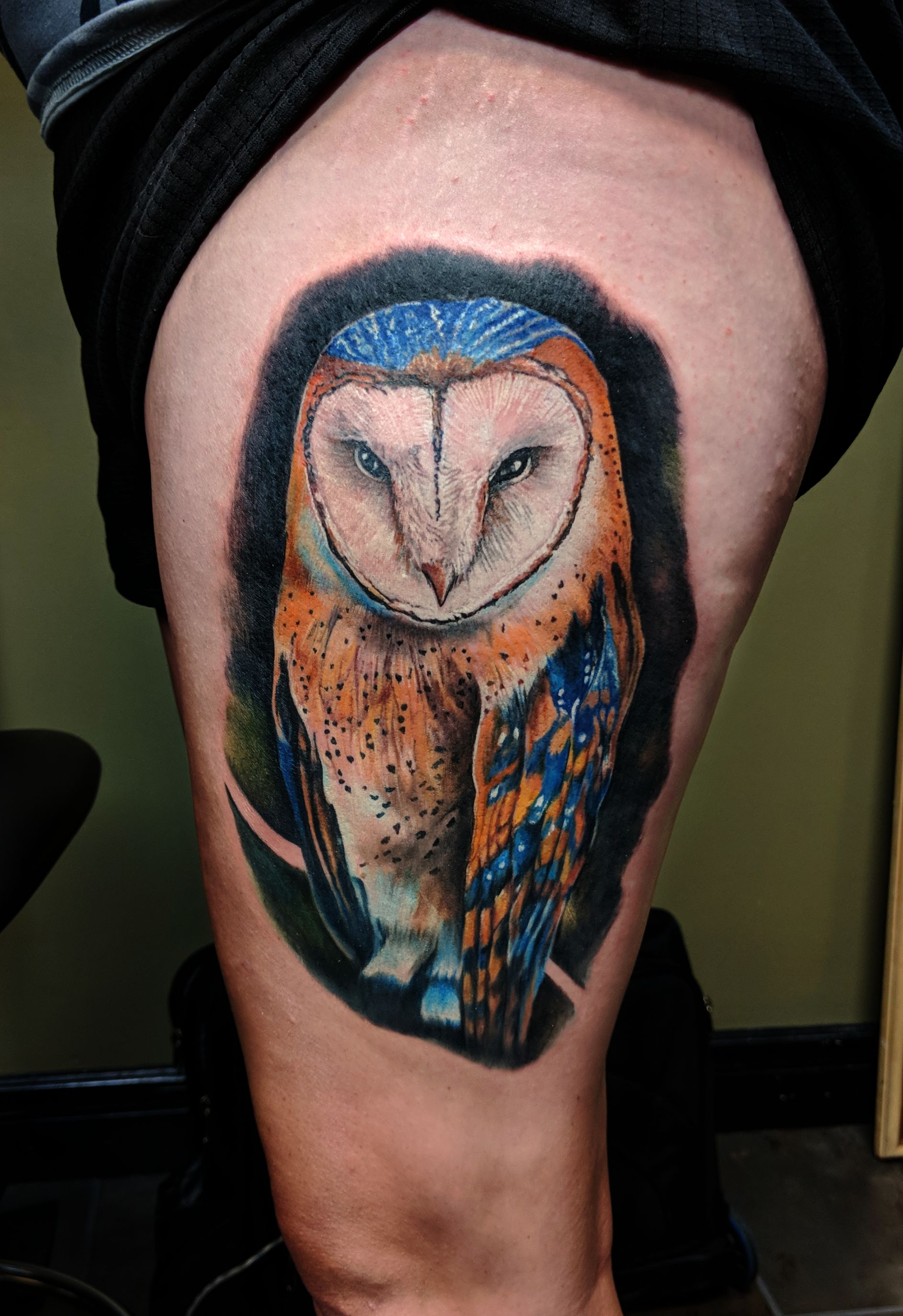 Realism Owl Tattoo
