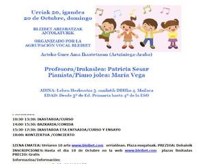 IV JORNADA CANTO CORAL INFANTIL-HAUR KANTU KORALA IV JARDUNALDIA