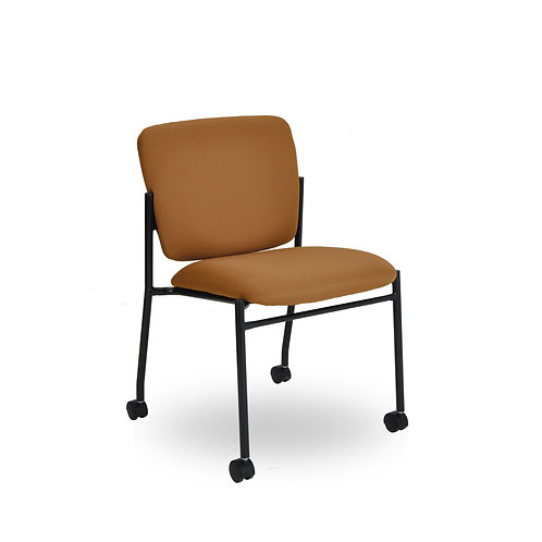 Armless 4-leg Fully Upholstered Multi-Use with Wheels