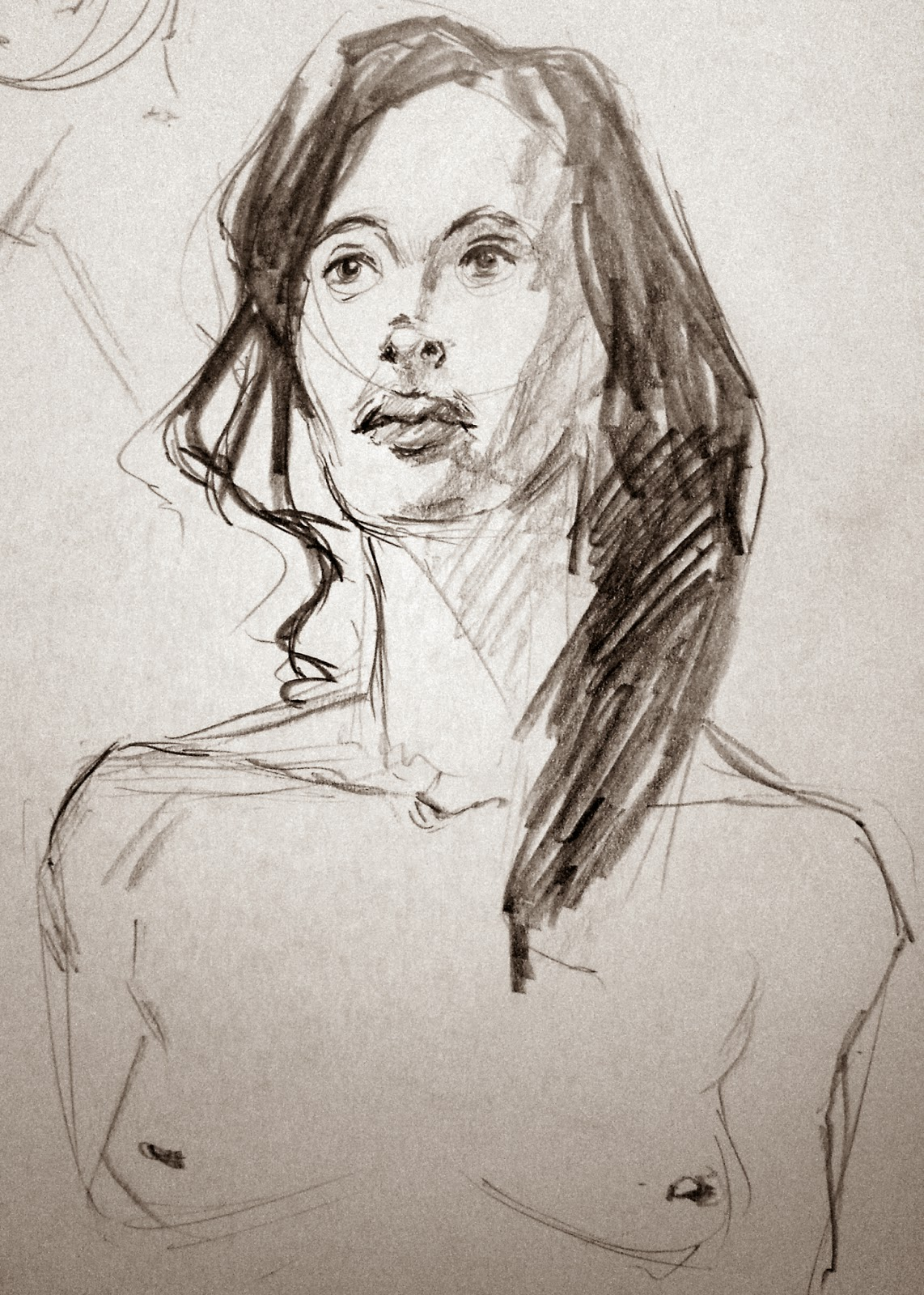 female portrait sketch