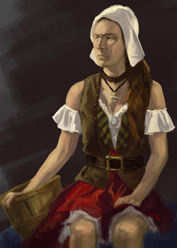 Milkmaid Portrait
