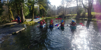 We are sailing - well rafting actually