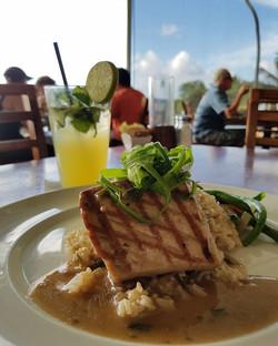 Ahi Tuna on a bed of brown rice! #Oahu #Hawaii #Foreveratraveler