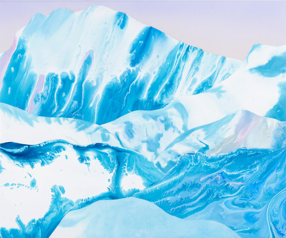 Kate Shaw Avalanche 2006 acrylic and res