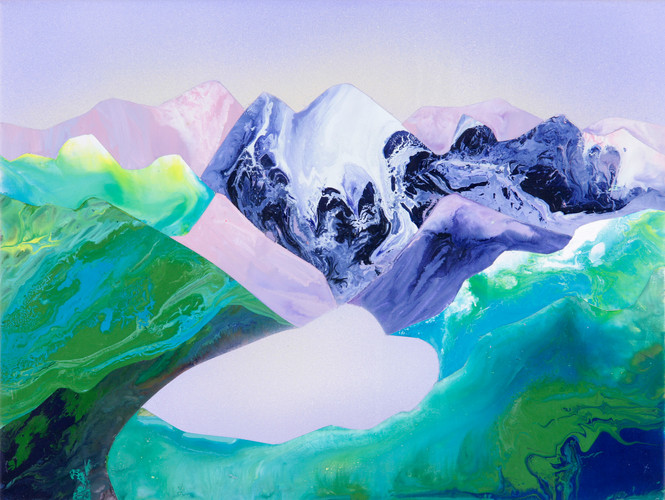 Kate Shaw Alpine 2006 acrylic and resin