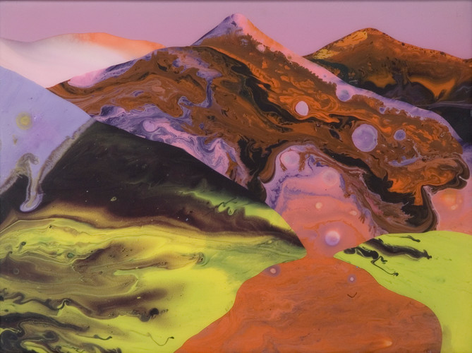 Kate Shaw Magic Hour 2007 acrylic and re