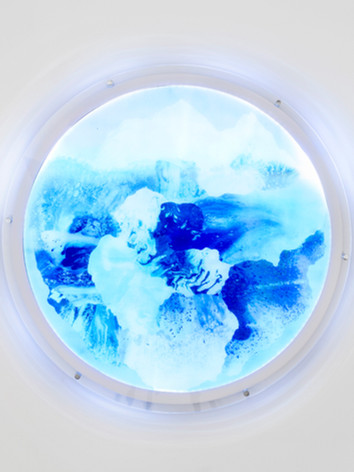 Blue Marble, lenticular lightbox, 90cm,