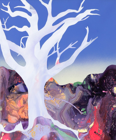 Kate Shaw Ghost Gum 2006 acrylic and res