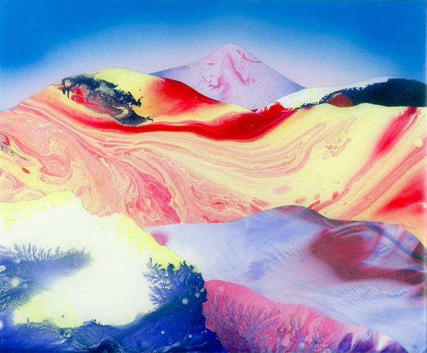 Kate Shaw Volcano 2006 acrylic and resin