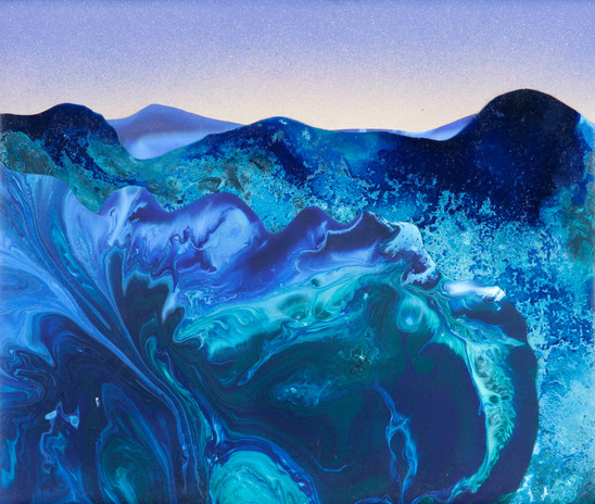 Kate Shaw Dawn 2006 acrylic and resin on