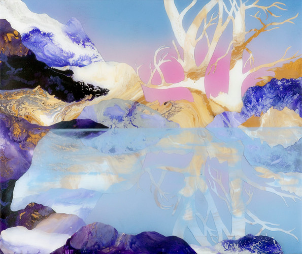 Kate Shaw Oasis 2006 acrylic and resin o
