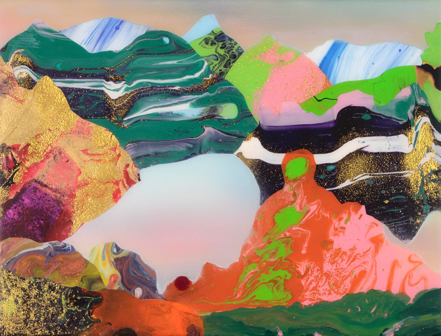 Kate Shaw Kerfi 2013 acylic and resin on