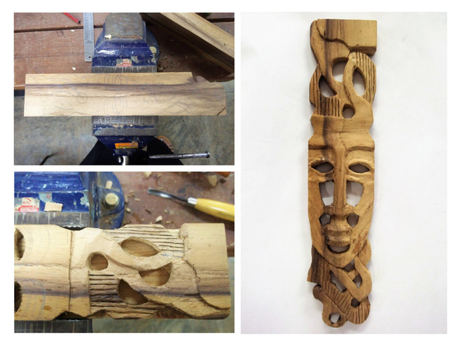 Wood Carving Process