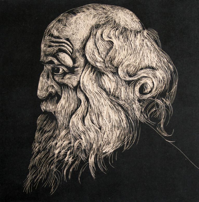 Portrait of old man (based on Rubens)