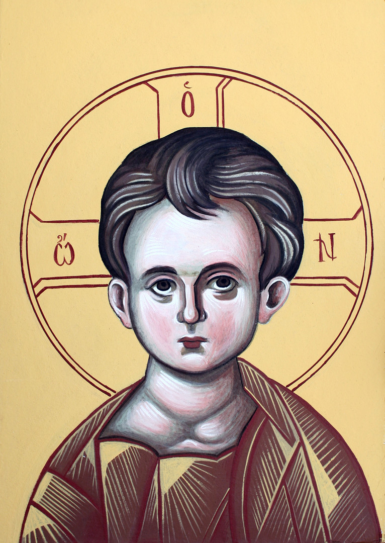 Icon of the Christ as child