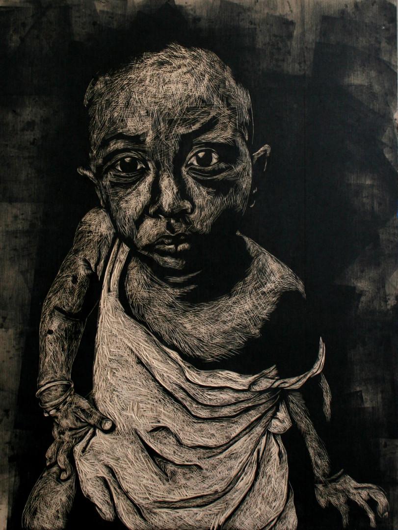 Portrait of unknown child