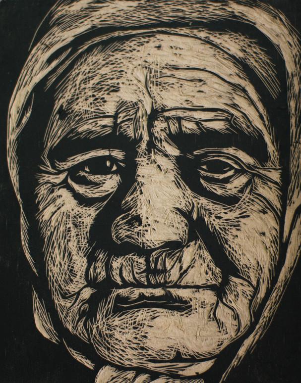 Portrait of unknown woman