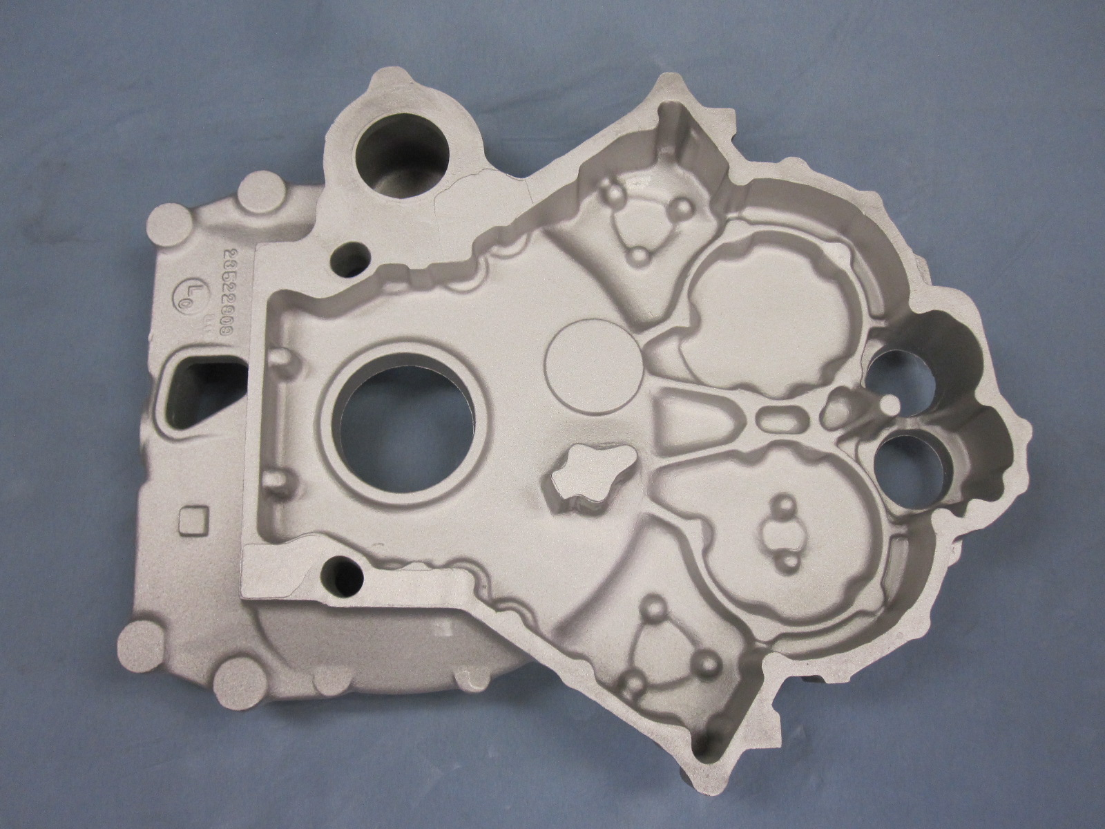 Aluminum cast flywheel cover