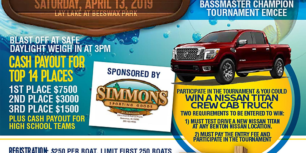 2nd Annual Benton Nissan Titan Bass Fishing Tournament benefiting King's Home