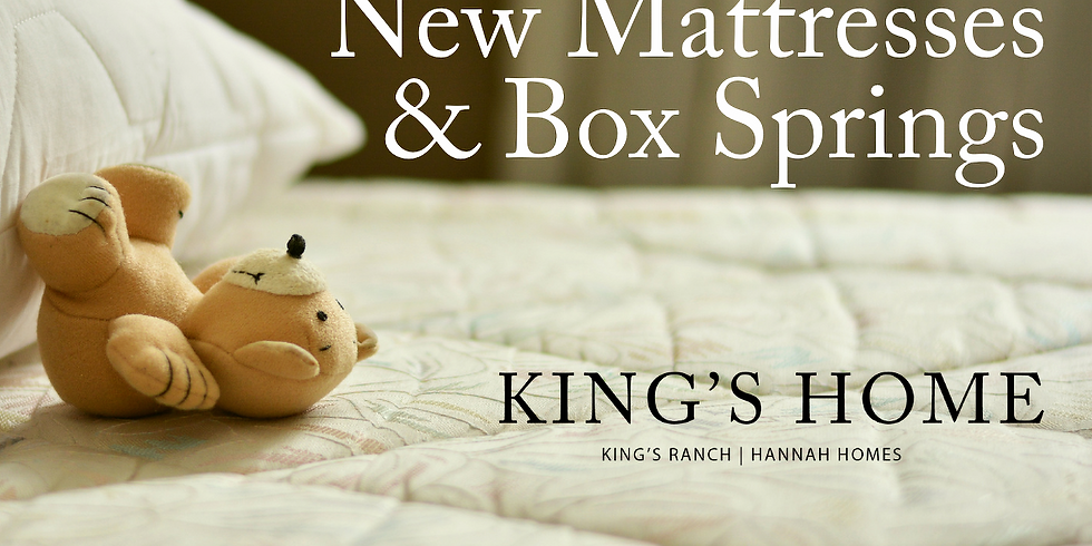 New Mattresses & Box Springs for Giving Tuesday