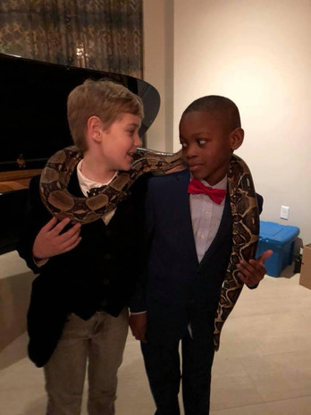 Queens Ball Boys with snake