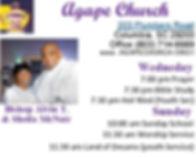 Agape Church, Bishop Alvin T. McNair