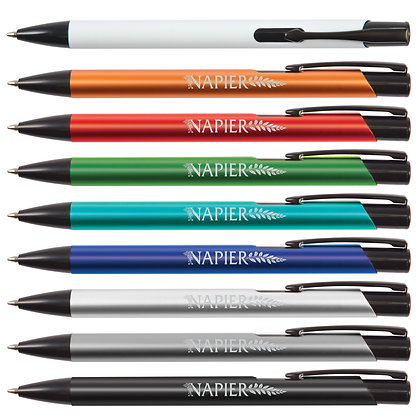 Napier Aluminium Black Ballpoint Pen