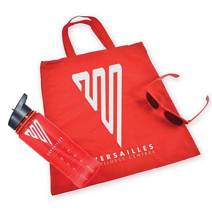 Bag ,  Drink Bottle and Sunglasses Kit